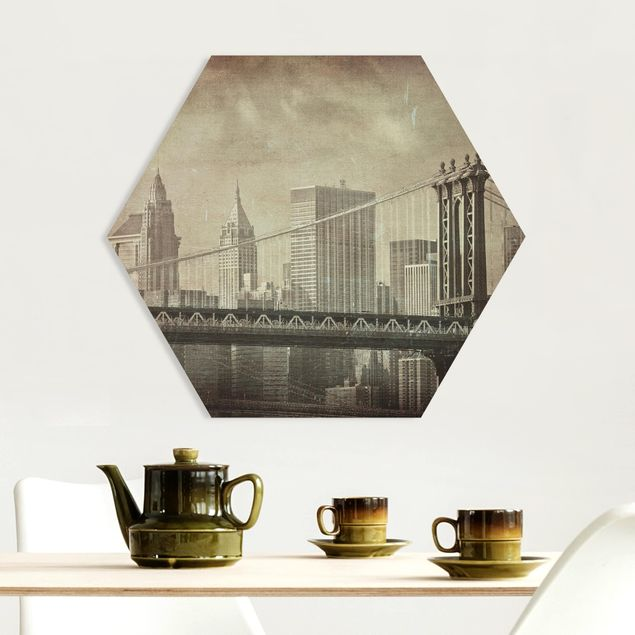 Hexagon Bild Forex - Vintage New York City