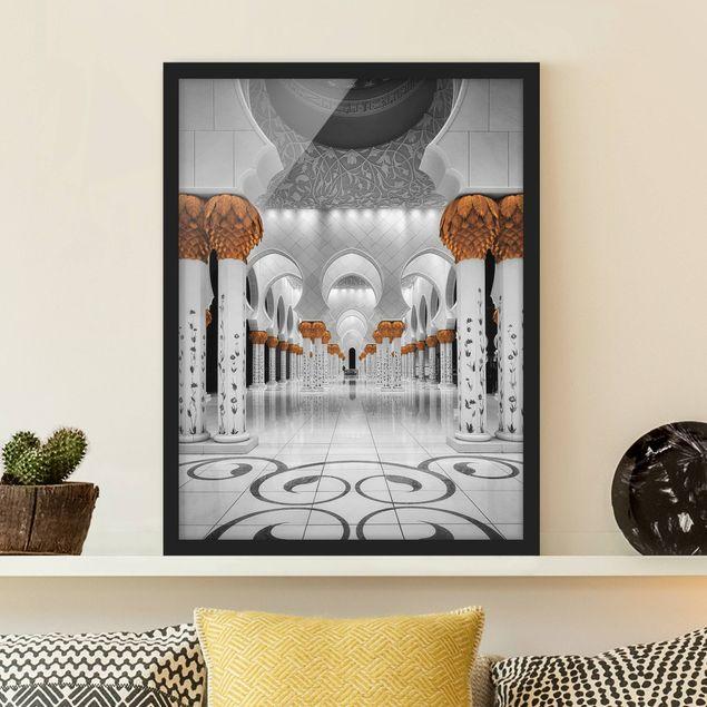 Bild mit Rahmen - In der Moschee - Hochformat 3:4