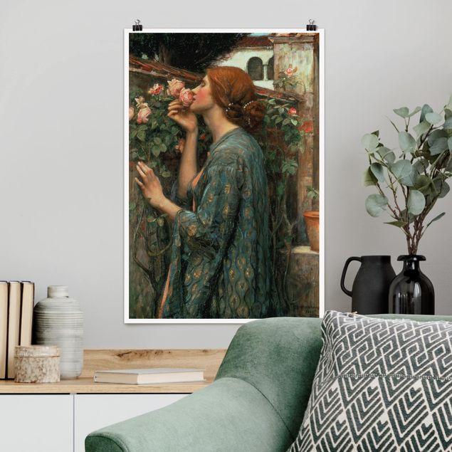 Poster - John William Waterhouse - Die Seele der Rose - Hochformat 3:2