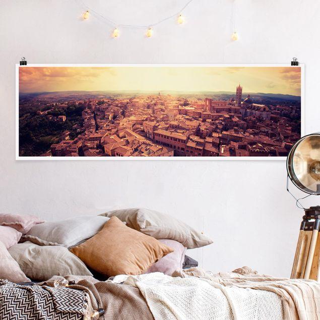 Poster - Good Morning Siena - Panorama Querformat