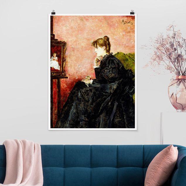Poster - Alfred Stevens - Dame in schwarz - Hochformat 3:4