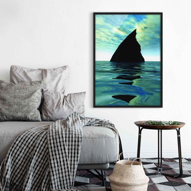 Bild mit Rahmen - Shark Attack - Hochformat 3:4