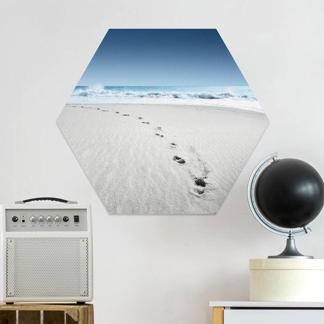 Hexagon Bild Forex - Spuren im Sand