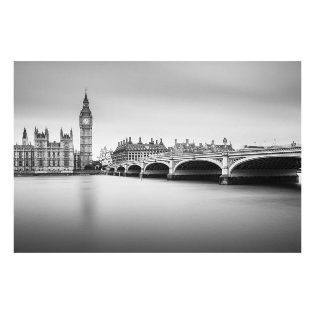 Forex Fine Art Print - Westminster Brücke und Big Ben - Querformat 2:3