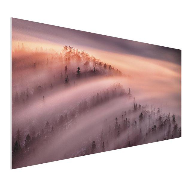 Forex Fine Art Print - Nebelflut - Querformat 1:2