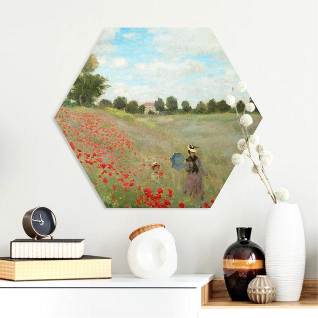 Hexagon Bild Forex - Claude Monet - Mohnfeld bei Argenteuil