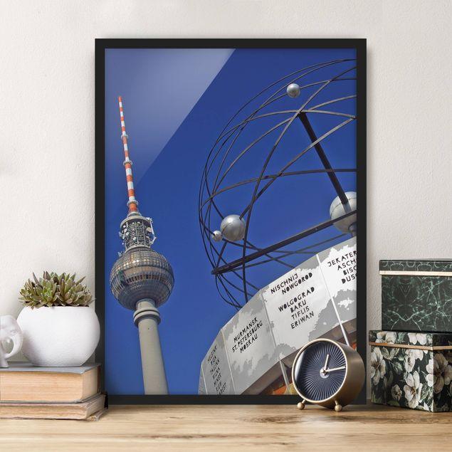Bild mit Rahmen - Berlin Alexanderplatz - Hochformat 3:4