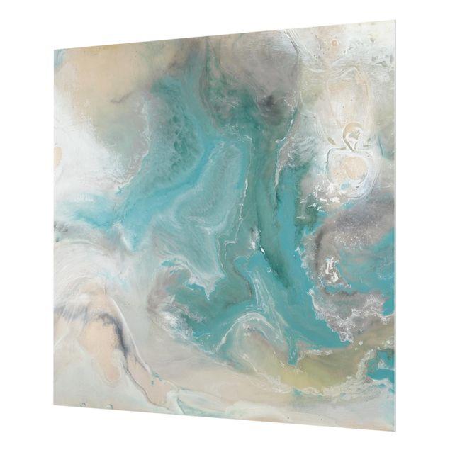 Glas Spritzschutz - Gezeiten mit Strandgut I - Quadrat - 1:1