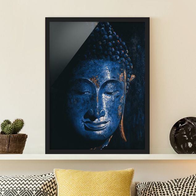 Bild mit Rahmen - Delhi Buddha - Hochformat 3:4