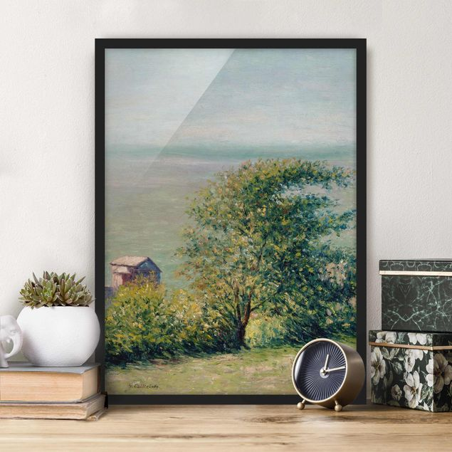 Bild mit Rahmen - Gustave Caillebotte - Am Meer bei Villerville - Hochformat 3:4