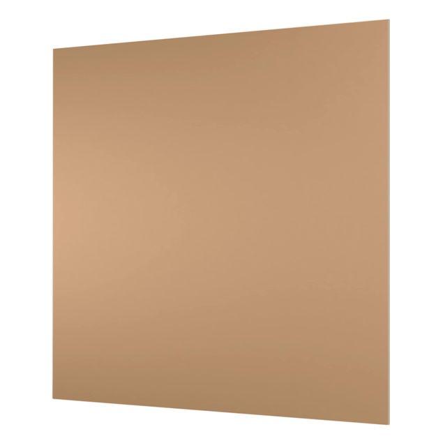 Glas Spritzschutz - Terracotta Taupe - Quadrat - 1:1