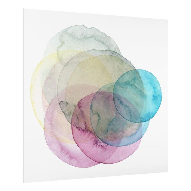 Glas Spritzschutz - Urknall - rosa - Quadrat - 1:1