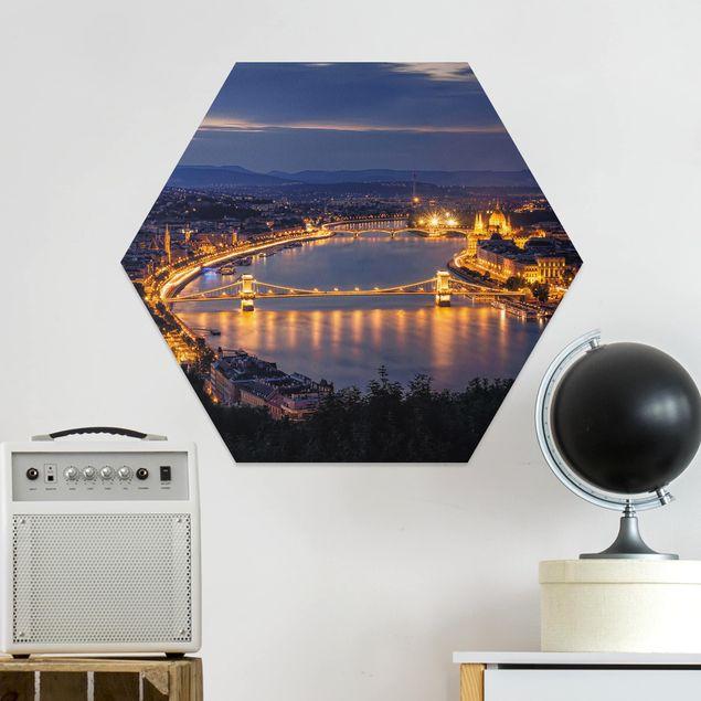 Hexagon Bild Forex - Blick über Budapest