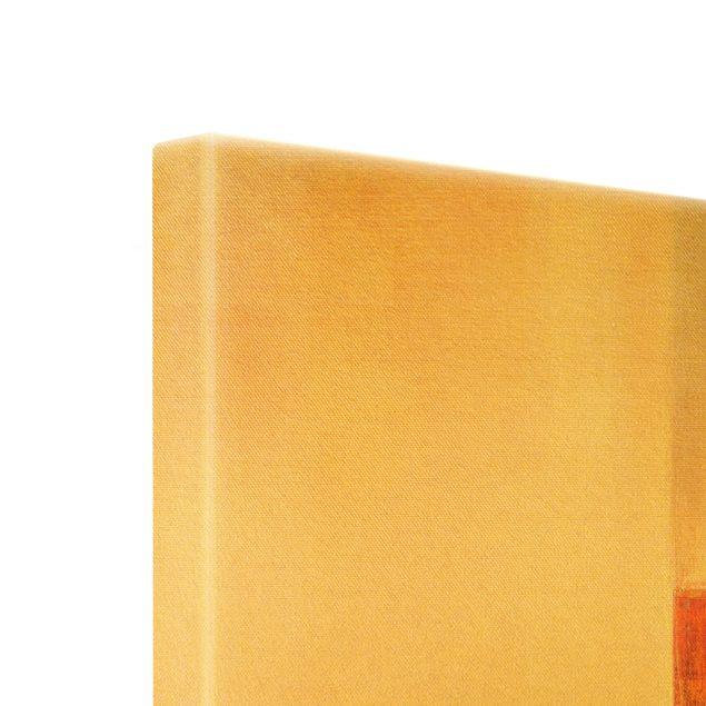 Leinwandbild Gold - Balance Orange Braun - Querformat 2:1