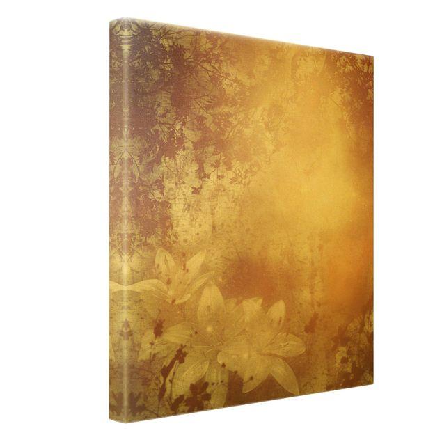 Leinwandbild Gold - Lilith - Hochformat 3:4