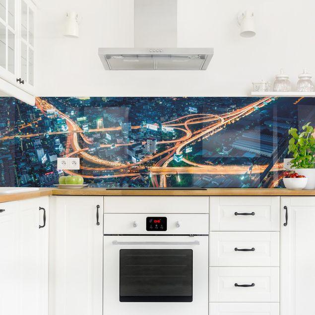 Küchenrückwand - Eine Nacht in Bangkok