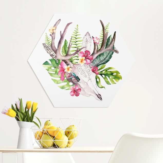 Hexagon Bild Forex - Tropical Flower Skull II