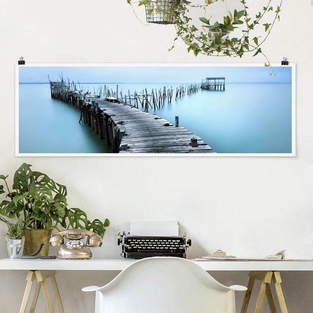 Poster - Der Hafen von Carrasqueira - Panorama Querformat