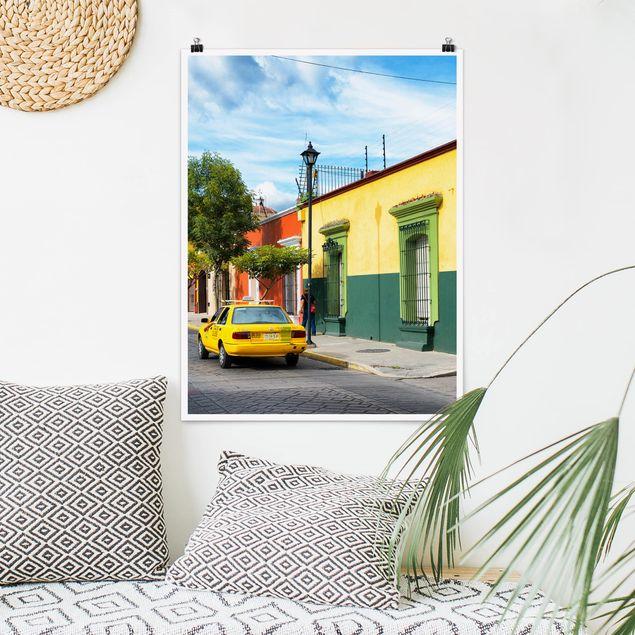 Poster - Bunte mexikanische Straße - Hochformat 3:4