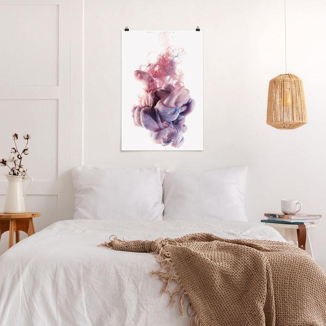 Poster - Abstrakte flüssige Farbverläufe - Hochformat 3:2