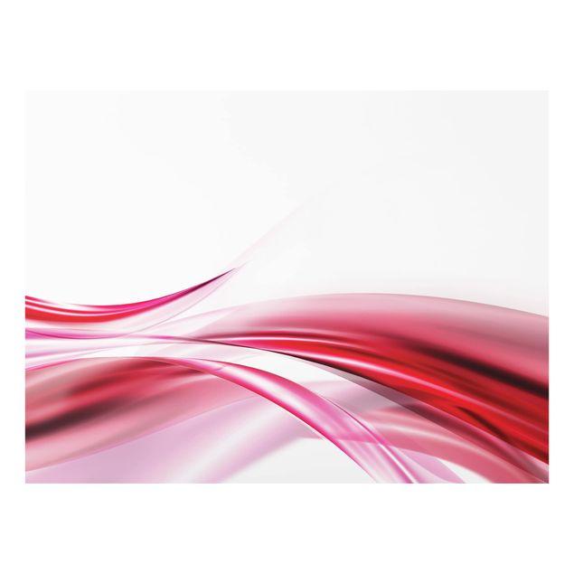 Glas Spritzschutz - Pink Dust - Querformat - 4:3