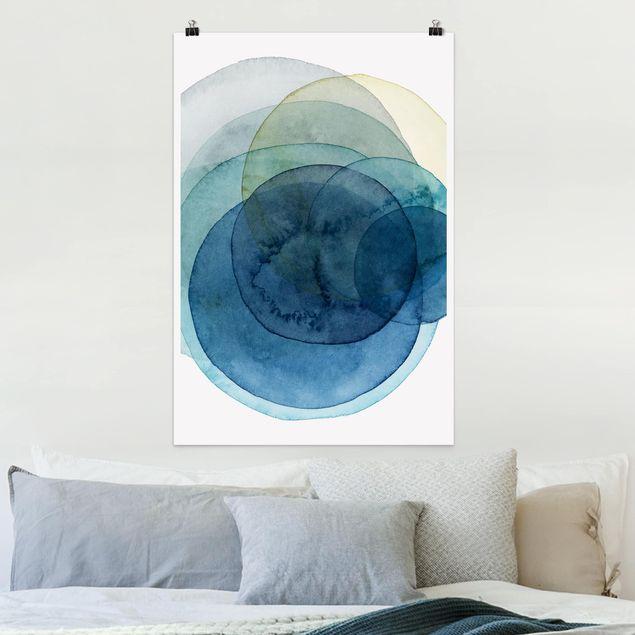 Poster - Urknall - blau - Hochformat 3:2