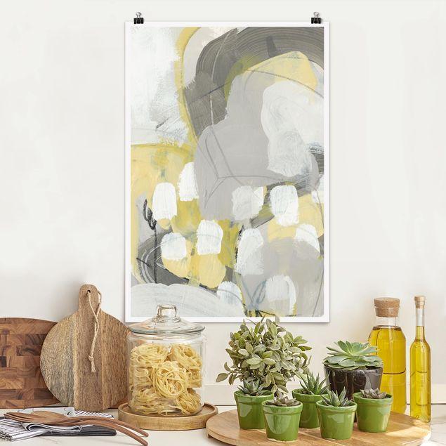 Poster - Zitronen im Nebel II - Hochformat 3:2