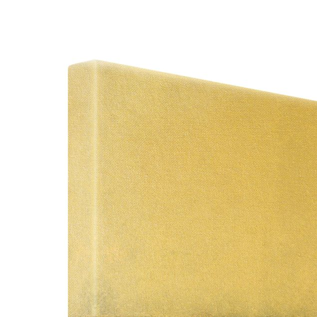 Leinwandbild Gold - Gold-Grauer Nebel - Hochformat 2:3