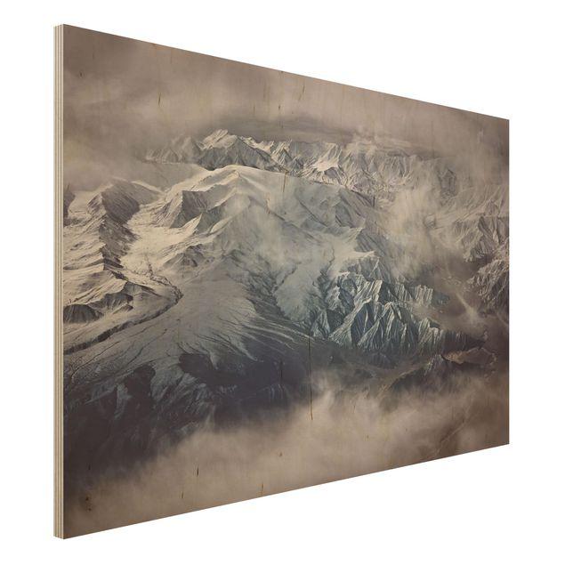 Holzbild - Berge von Tibet - Querformat 2:3