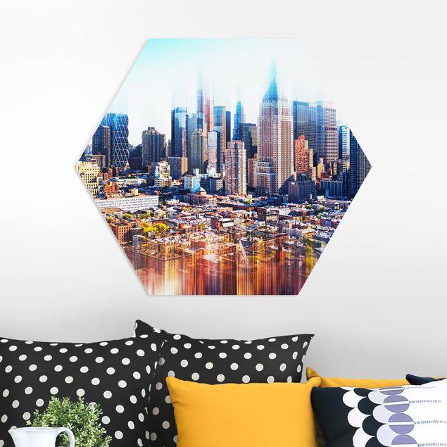 Hexagon Bild Forex - Manhattan Skyline Urban Stretch
