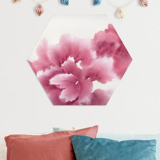 Hexagon Bild Forex - Künstlerische Flora I