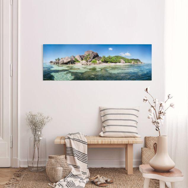 Leinwandbild - La Digue - Panorama 3:1