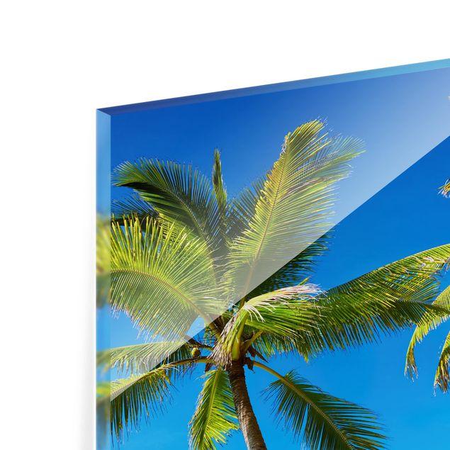 Glas Spritzschutz - Beach of Thailand - Quadrat - 1:1