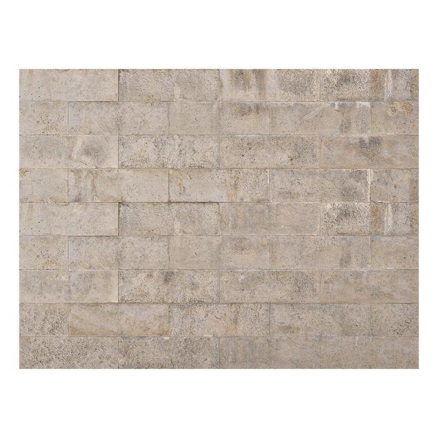 Glas Spritzschutz - Ziegel Betonwand - Querformat - 4:3
