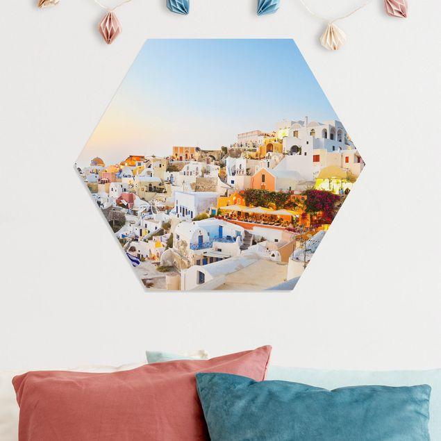 Hexagon Bild Forex - Strahlendes Santorin
