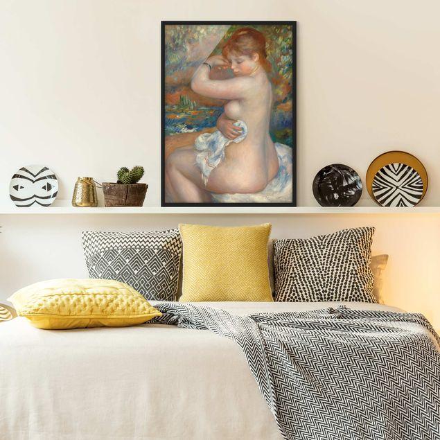 Bild mit Rahmen - Auguste Renoir - Badende - Hochformat 3:4