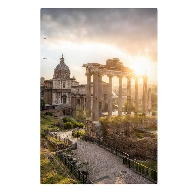 Leinwandbild - Forum Romanum bei Sonnenaufgang - Hochformat 2:3