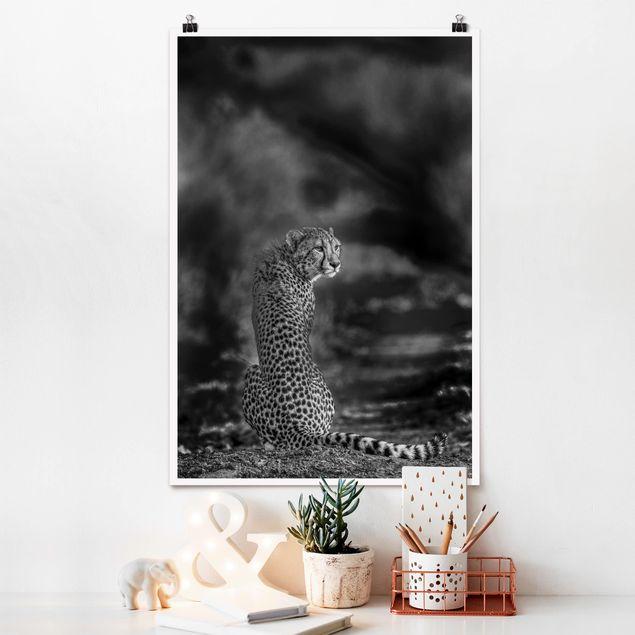 Poster - Gepard in der Wildness - Hochformat 3:2