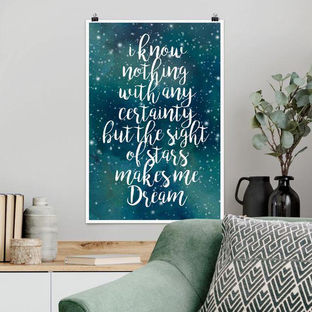 Poster - Sternenhimmel Gewissheit - Hochformat 3:2