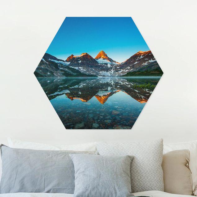 Hexagon Bild Forex - Berglandschaft am Lake Magog in Kanada