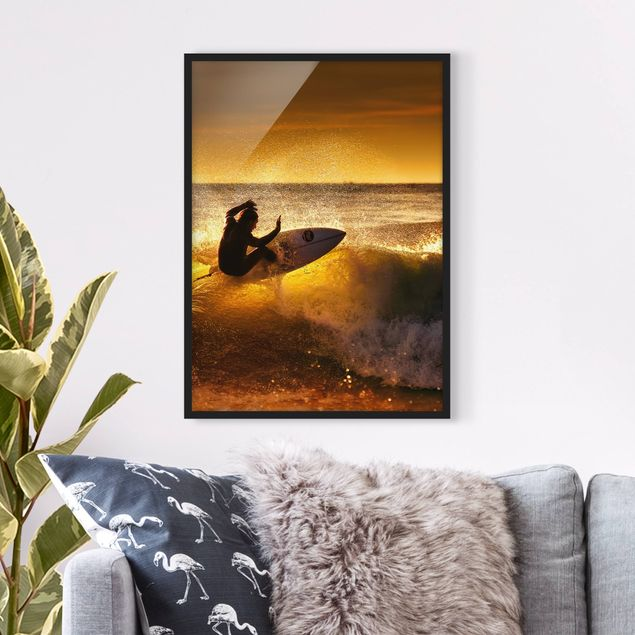 Bild mit Rahmen - Sun, Fun and Surf - Hochformat 3:4