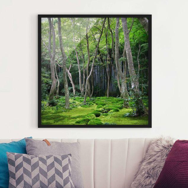 Bild mit Rahmen - Growing Trees - Quadrat 1:1