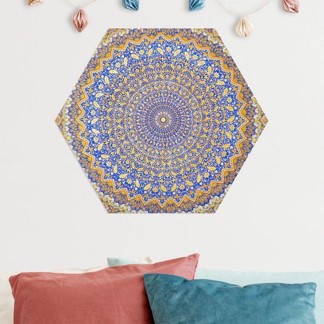 Hexagon Bild Alu-Dibond - Dome of the Mosque