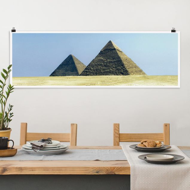 Poster - Pyramids Of Gizeh - Panorama Querformat