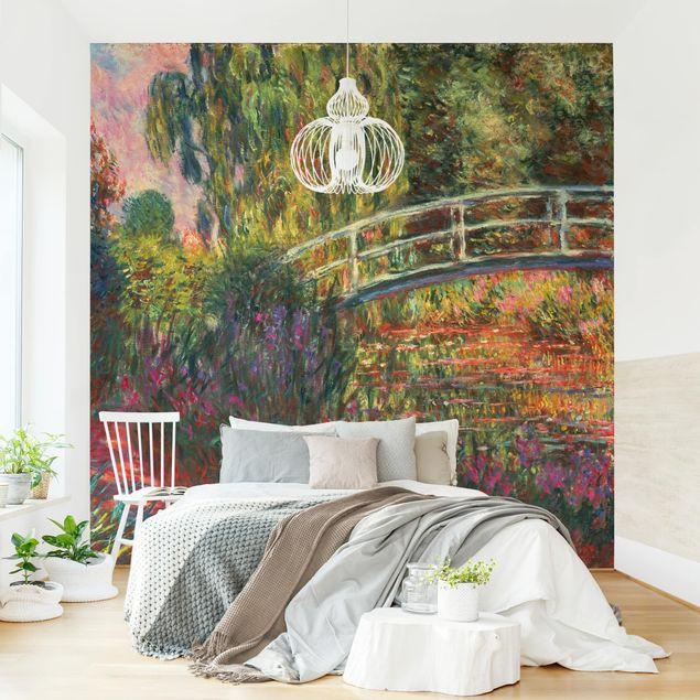 Fototapete - Claude Monet - Japanische Brücke im Garten von Giverny