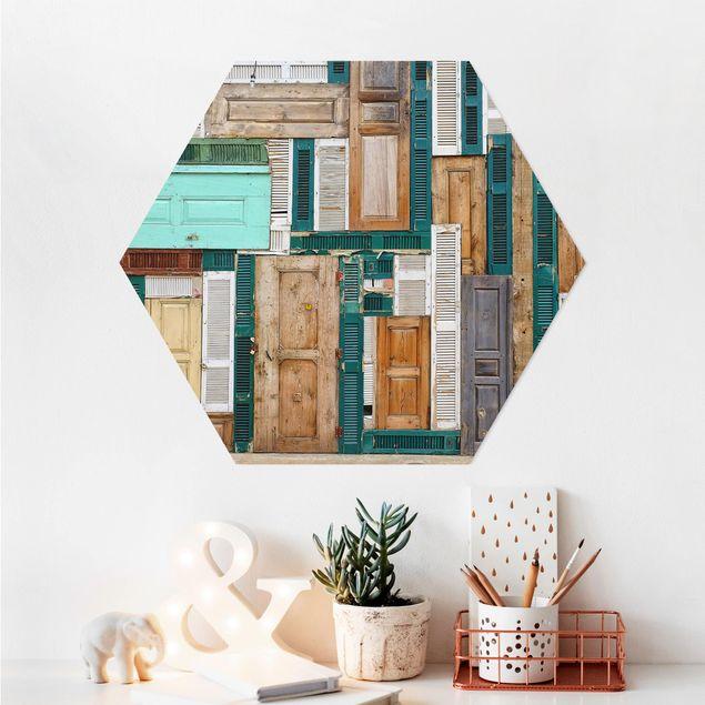 Hexagon Bild Alu-Dibond - The Doors
