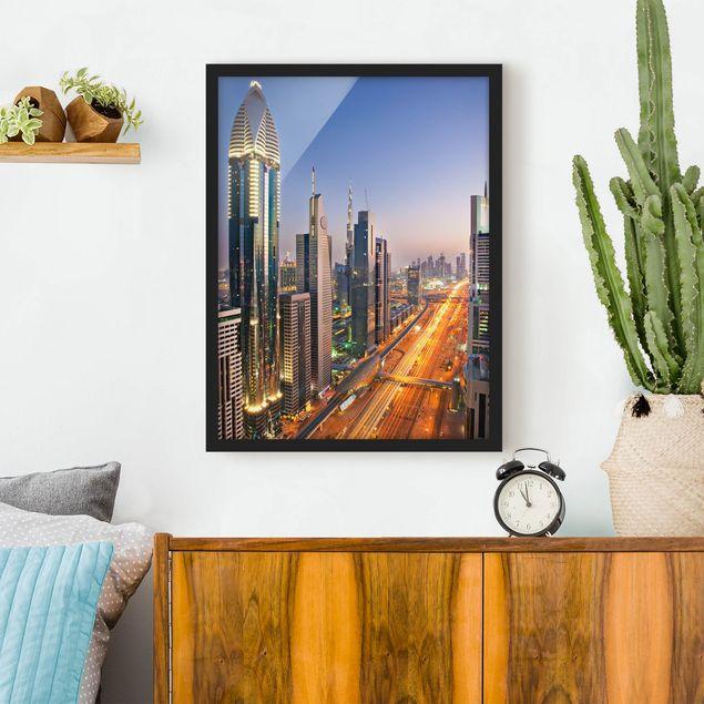 Bild mit Rahmen - Dubai - Hochformat 3:4