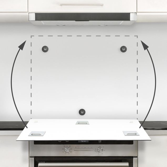 Glas Spritzschutz - Orbit mit Punkten I - Quadrat - 1:1