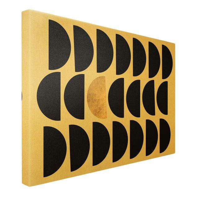 Leinwandbild Gold - Geometrischer Halbkreis II - Querformat 3:2