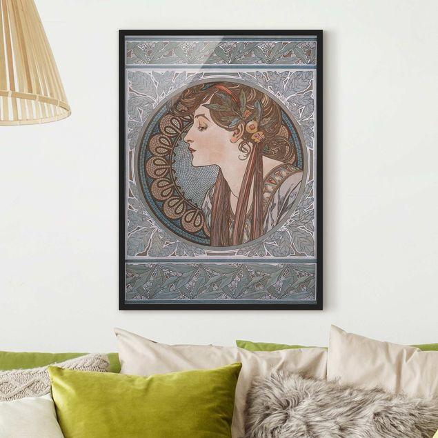 Bild mit Rahmen - Alfons Mucha - Helena - Hochformat 3:4